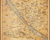 FLORENCE ITALY Map fabric... perfect for DIY projects... original, spoonflower... 14 by 16 inches
