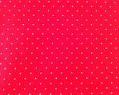Stenzo cotton fabric - small dots red white