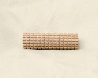 Wooden Tool for Wet Felting- The Mini Minimalist. Double Grooved Roller for wet felting ideal for fulling handmade felted hats.