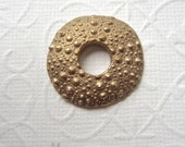 Organic bronze pendant, sea urchin pendant, Handmade urchin, Artisan bronze sea urchin - 1 pendant