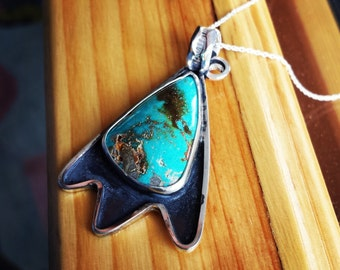Sterling Silver Nevada Turquoise Necklace
