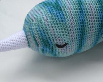 Crochet Amigurumi Sleepy Giant Narwhal Plush toy
