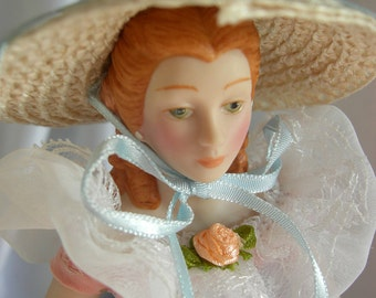 Porcelain Doll - Fashion of American Times Southern Belle Costume - by AVON - 1980s NIB