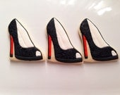 Designer shoe cookies