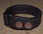 Leather Bracelet-men bracelet-handmade- Dark Brawn