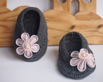 LINEN BABY SHOES - Linen Baby Girl Shoes, Baby Girl Gift, Made to order