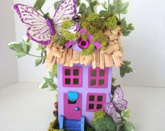 Enchanting ...Butterfly Haven Fairy House......OOAK