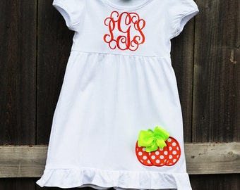 Personalized Pumpkin Bow dress
