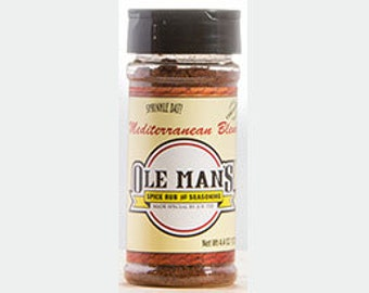 Ole Man's Spice Rub & Seasoning - Mediterranean Blend 4.4oz.Free Shipping
