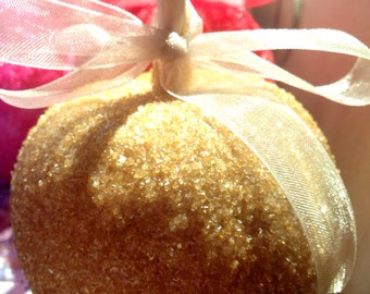 Gold Glam Apples  Custom Candy Chocolate Or Caramel Apples Personalized Party Favors Glitter Mitzvahs, Carnivals, Weddings