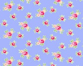 Pam Kitty: Favorite Mini Floral Periwinkle 1/2 Yard Cut