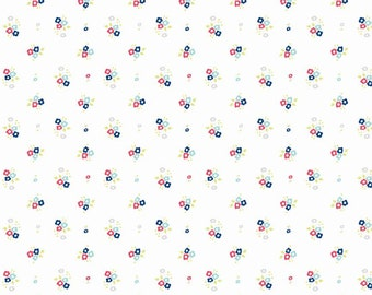Floral White: Natalie Lymer - Enchant Collection 1 Yard Cut