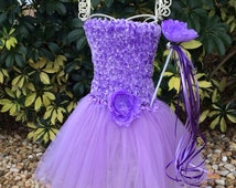 Purple Princess Costume, Fairy Costume, Princess Costume, Fairy Wand, Princess Wand, Purple tutu, Fairy Party Favors, Princess party favors