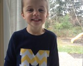 University of michigan m shirt