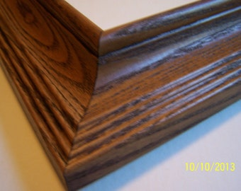 ONE 12 x 16 picture frame ~ Oak Frame with Walnut Stain