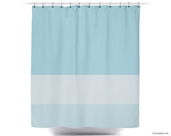 The Blues // Stripe Color Block // Shower Curtain