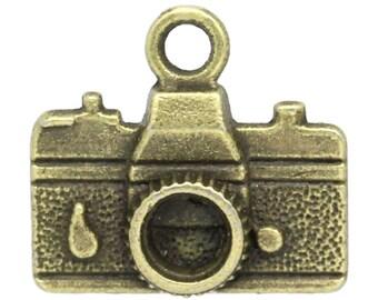 50 Pieces Antique Bronze Camera Charms