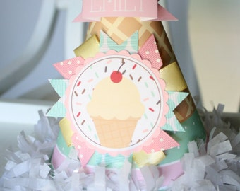Ice Cream Birthday Party Hat, Sweet Party Hat