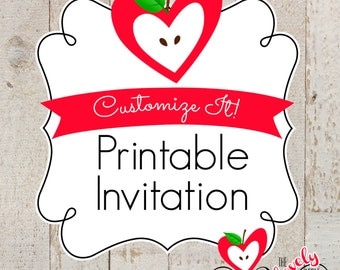 PRINTABLE A LA CARTE--- Custom Designed Invitation