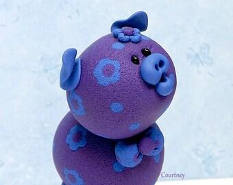 Courtney Polymer Clay Piglet Figurine