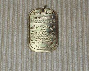Hanuman Travel Protection Vahan Durghatna Nashak Frequency Pendant