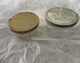 Vintage Jelly Jar Lot of Two