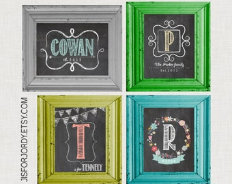 DIGITAL COPY -- Adorable chalkboard name prints