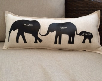 Elephant Accent Pillow