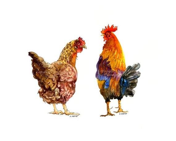 Chicken Kitchen Wall Decor rooster hen chicken kitchen wall decor gift idea country art