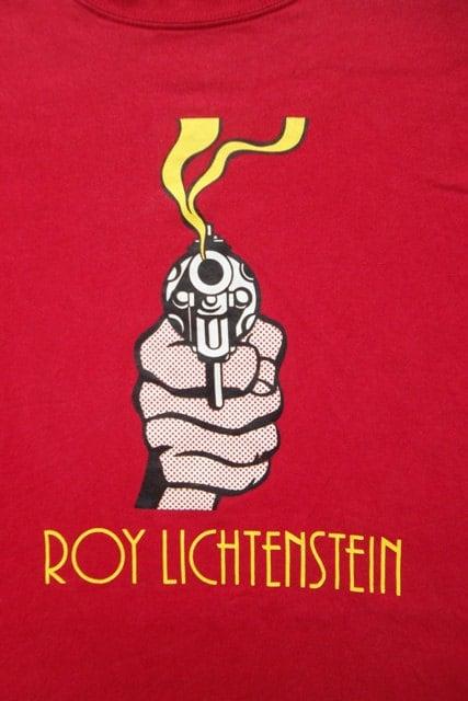 Annata Roy Lichtenstein Pistole Pop Art T Shirt