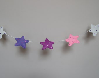 SALE - stars garland - nursery decor - child's room - glamour