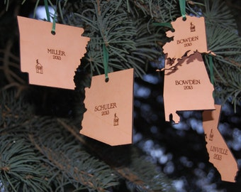 Wisconsin State Shape Christmas Ornament Wisconsin Ornament