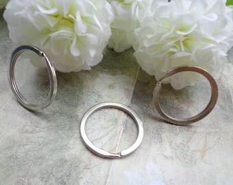 SALE--28mm  Round Split Rings - Double Loop-50 pcs