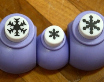 A Set of 3 Paper Punches- Snowflakes