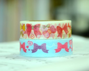 2 Rolls of Japanese Washi Tape Roll- Ribbons