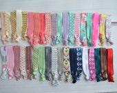 Elastic Hair Ties Grab bag of 10 solid and pattern, no tug hair ties, elastic hair tie, hair accessories, baby girl hair ties