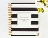 January 2015 DAY DESIGNER - Black Stripe - Yearly Planner & Daily Agenda, Calendar, Organizer