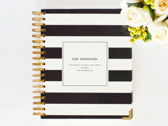 January 2015 Day Designer Black Stripe Yearly Planner