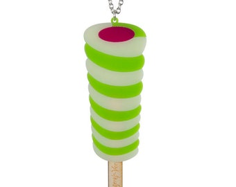 Twister necklace - laser cut acrylic