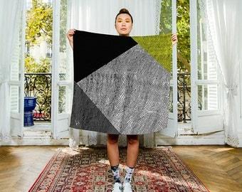 FREE SHIPPING Worldwide - Silk scarf- scarve -Designer. Diamond. Made in France.