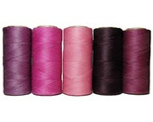 Macrame Cord - Waxed Polyester Linhasita - Set of 5 Colors - 10 meters each color