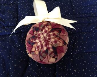 Homespun Folded Star Ornament