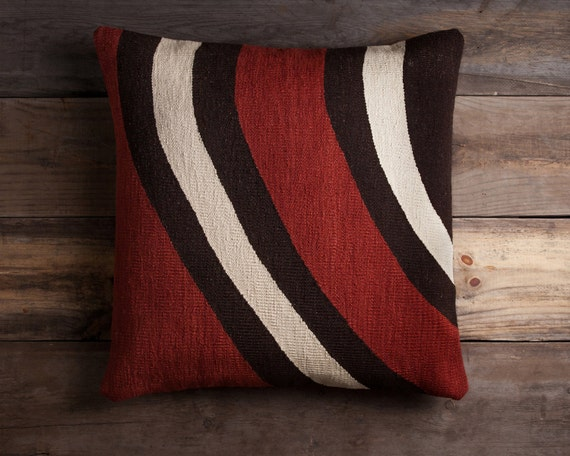 contemporary kilim floor pillow handwoven by christianrathbone