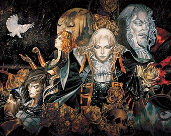"Castlevania Symphony of the Night 36 x 24"" Video Game Poster"