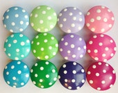 Hand Painted Polka Dot Drawer Knobs