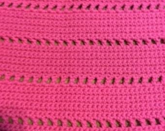 Handmade Crochet Pink Shawl