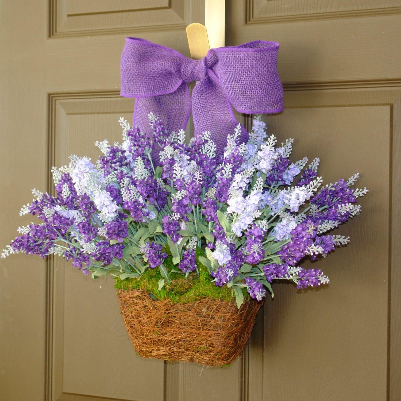 summer wreaths lavender purple wreath front door by aniamelisa. Black Bedroom Furniture Sets. Home Design Ideas