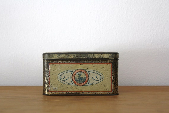 Vintage Metal Tin Box Brazil 1890s/1910s