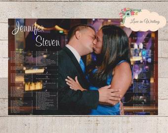 Custom Photo Seating Chart Wedding Bridal Shower Rehersal Dinner Anniversary Event - Printable Digital File