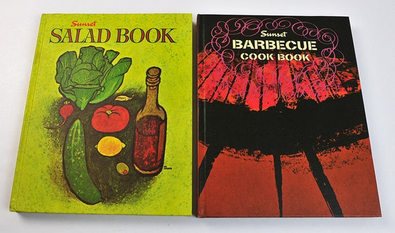 Sunset Book Set, Salad, Barbecue, in Box, First Printing, 1962